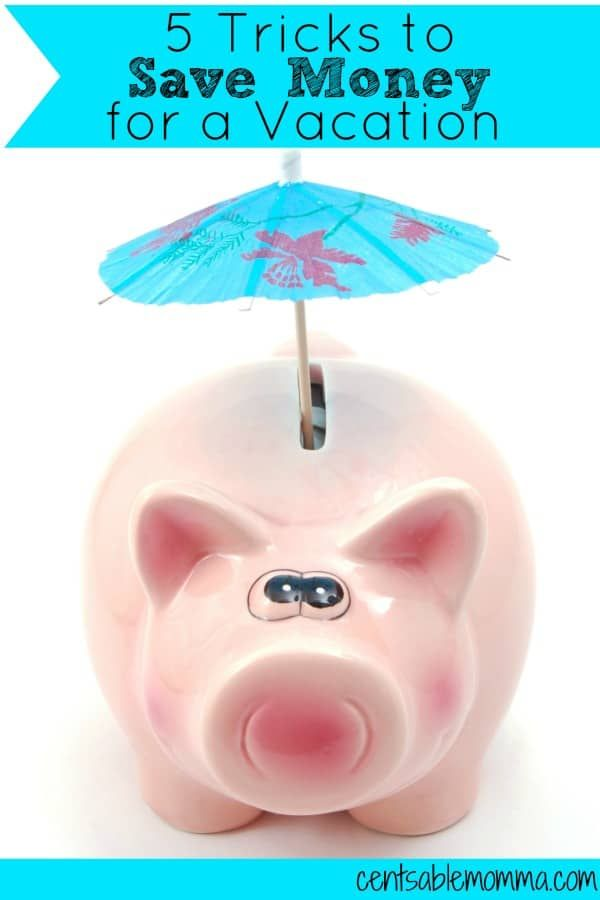 Vacations can be so much fun to go on...but they can also be expensive!  Check out these 5 Tricks to Save Money for a Vacation so that you can have fun and not worry about paying for it when you get back. #savings #vacation #debtfree