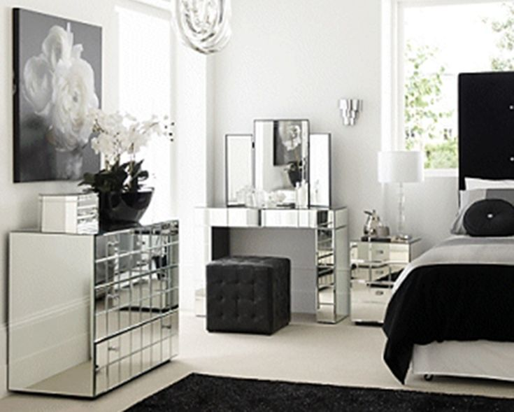luxurious mirrored bedroom furniture sets bring elegance nuance into the room