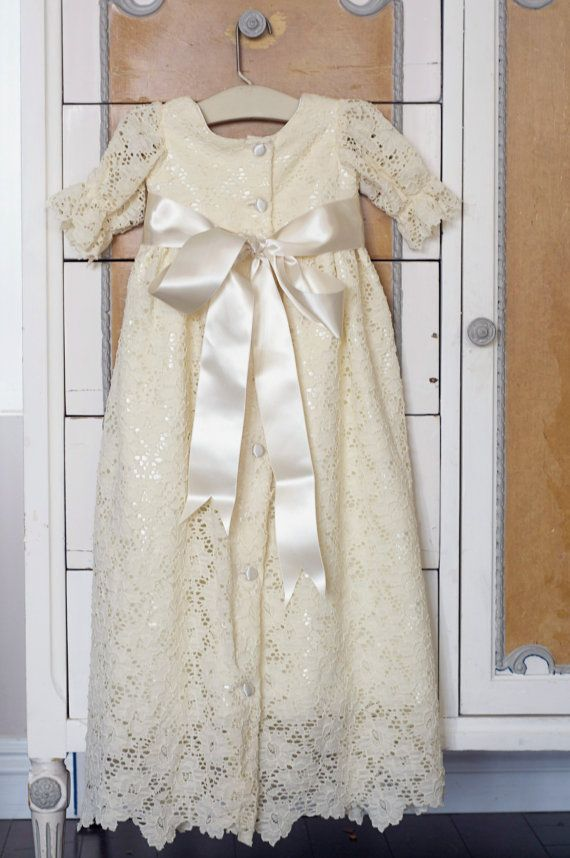baby christening dress blessing dress first by SadieThenTy on Etsy, $178.00