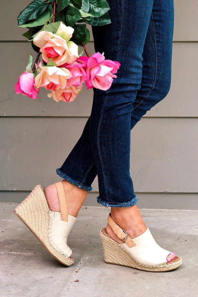 8b9dfb42765 TOMS Natural Oxford Monica Wedges in 2019 | Shoes | Toms shoes ...