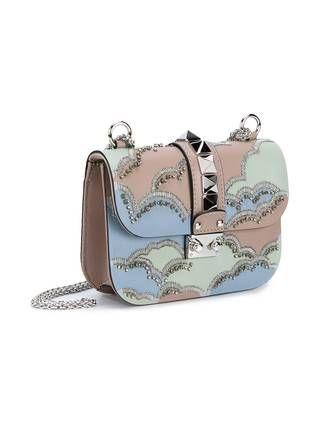 Valentino Valentino Garavani 'Glam Lock' embroidered shoulder bag