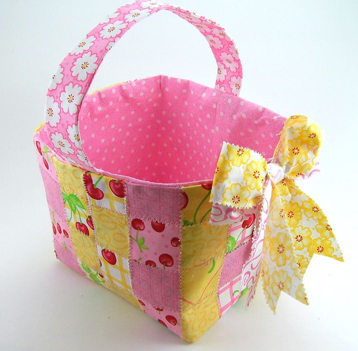 Woven Fabric Basket PDF Sewing Tutorial by aSundayGirl on Etsy