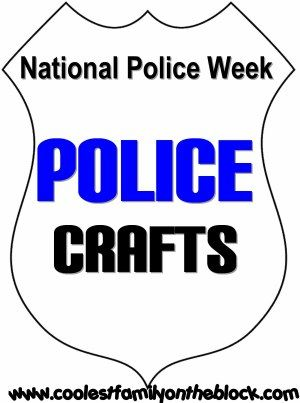 National Tell A Police Officer Thank You Day in September! Police Crafts!