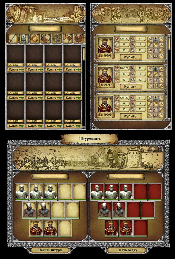 "ArtStation - Creating interface for ""Legends of Eisenwald"", Svesla Tasla"