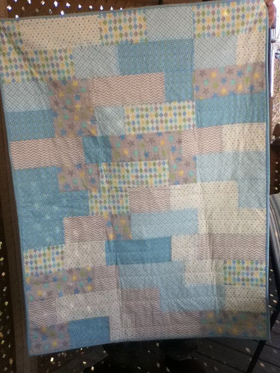 Baby Boy 37 X 48 Soft Flannel material by ShirleyCQuilts on Etsy