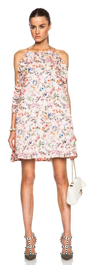 MSGM Floral printed ruffle mini dress found on Nudevotion