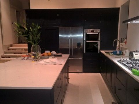 Beautiful Picture Of A Handmade Kitchen Painted In Basalt By Little Green Co