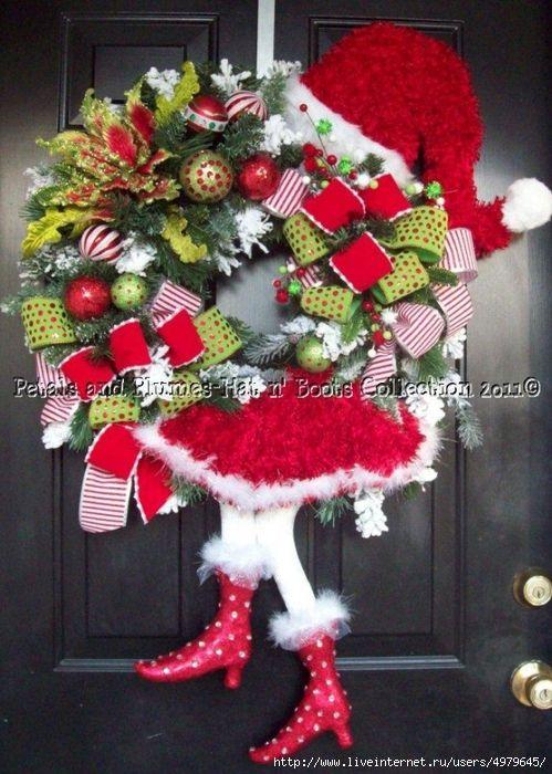 Рождественские венки и снеговики - идеи и МК » Женский Мир