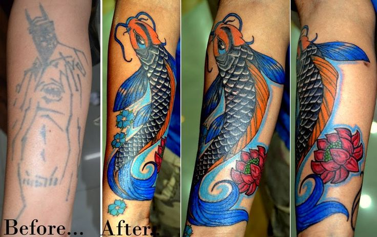 BEST TATTOOS IN JAIPUR: cover up of an old tattoo @ Xpose Tattoos Jaipur