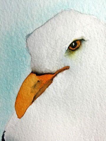 Aquarell Vogel Malerei Vogel Kunst Original Aquarell Möwe – # Kunst #Vogel #Leben