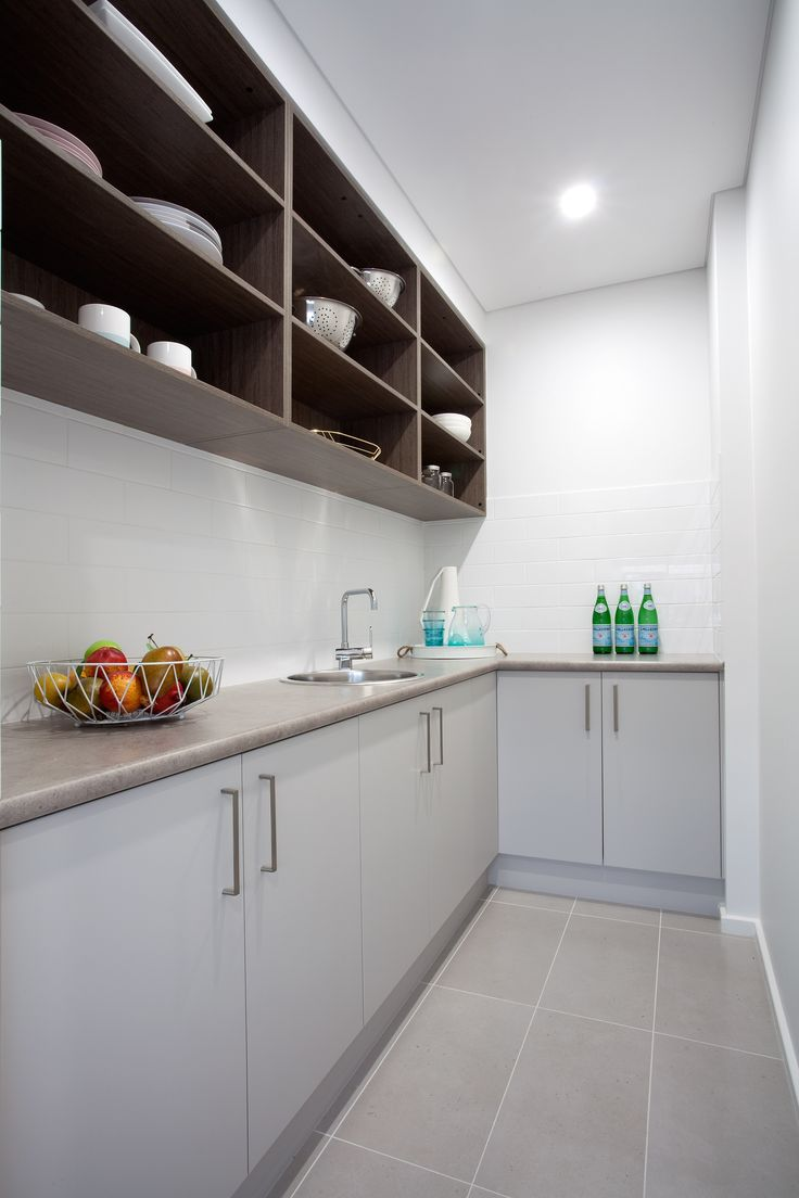 A beautiful, clean Butler's Pantry.
