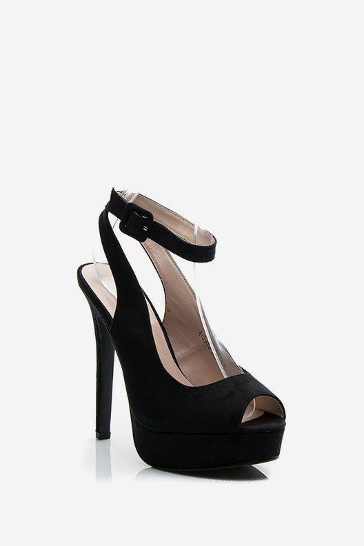 Sandały na szpilce Gabi czarne