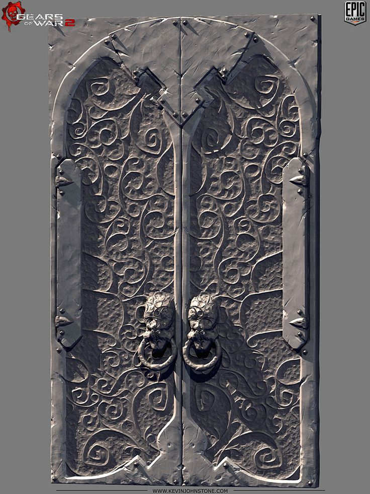 Gears of War 2 - Locust Palace Doors2 by Kevin Johnstone