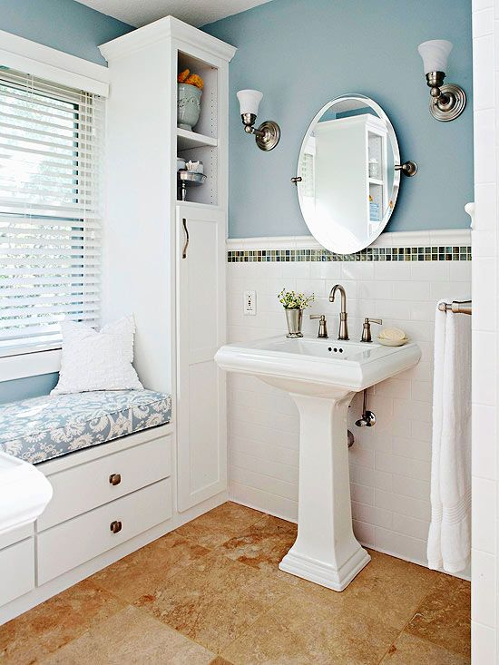 Try a Sleek Pedestal Sink