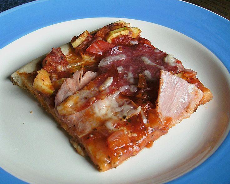 Pizzateig, kalorien- und fettarm, ein raffiniertes Rezept aus der Kategorie Pizza. Bewertungen: 160. Durchschnitt: Ø 4,5.