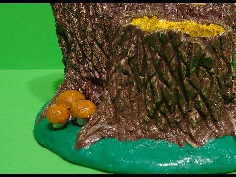 Миниатюрные грибы из гипса или алебастра. // Как сделать грибы из гипса. // Mushrooms from plaster. - YouTube