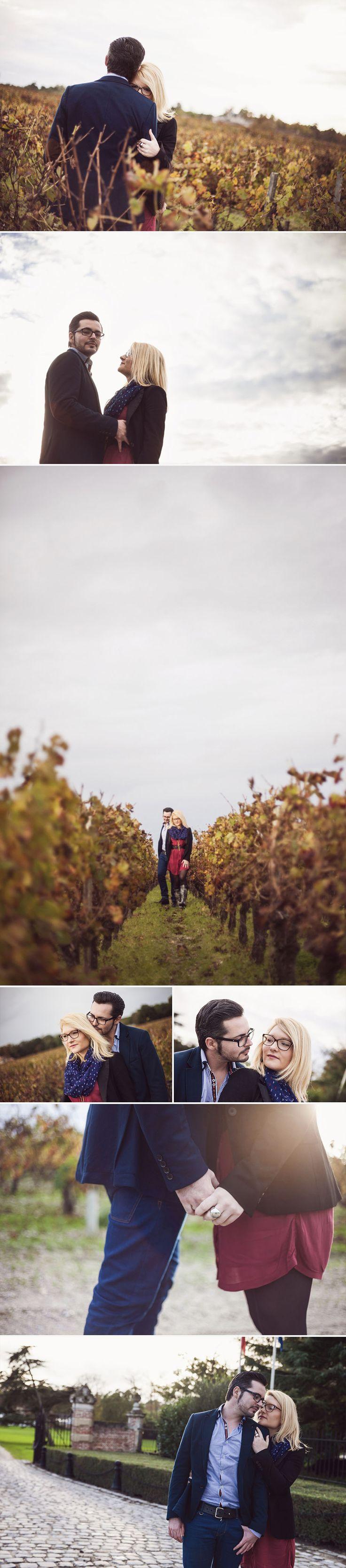 Emilie & Wilfried // Séance photo couple automne // Sarah Miramon Photographe   #couple #LoveSession #vignes #lifesyle #photo #photographe #bordeaux