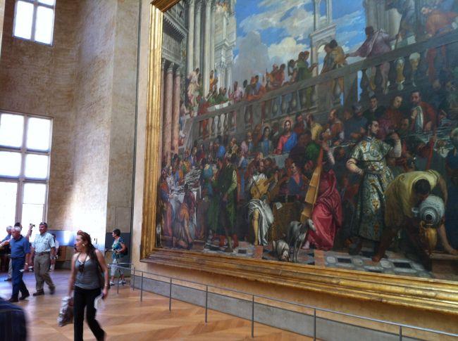 Bruiloft te Kana in het Louvre, Parijs