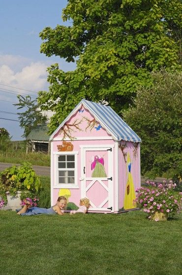 38 best images about playhouses on pinterest storage for Sweetbriar garden homes