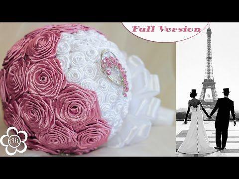 ▶ Свадебный букет Канзаши Мастер Класс / Wedding Bouquet Kanzashi Tutorial / Полная версия - YouTube