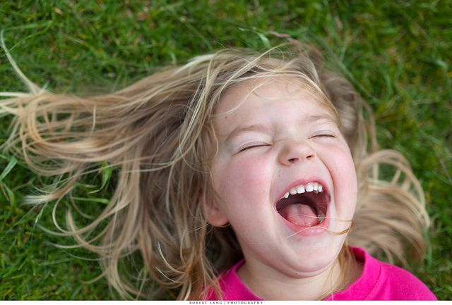 Child laughing by Robert Lang Photography, via Flickr