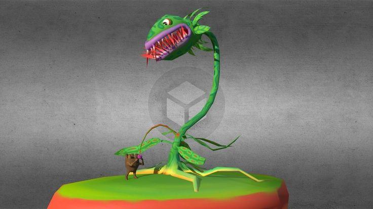 Carnivorous Plant - Cartoon scene by GilbertoMartini