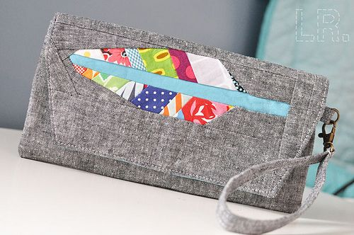 Purse Palooza 2012 :: Envelope Clutch | LRstitched :: a journal of stitches