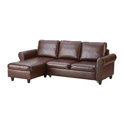 IKEA - ФИКСХУЛЬТ, Диван-кровать, Раггиг темно-коричневый/под мрамор, Ширина кровати: 141 см, длина кровати: 197 см, 40.000 руб.