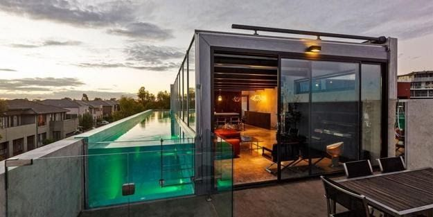 Rooftop Terrace With Glass Pool Modern House Design 35 Amazing Rooftop Terrace Design Ideas Roof Terrace In 2020 Rooftop Terrace Design Terrace Design Concrete House