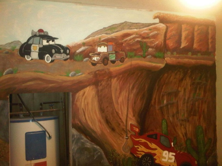 This mural was done for a friends toddler in his room, thanks for looking!   Check out my facebook page at Caught Your Eye Murals