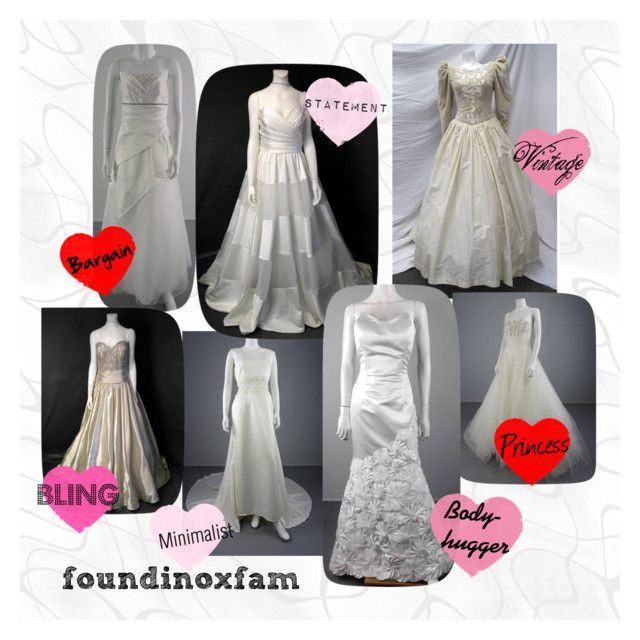 """""""Oxfam Wedding Dresses"""" by clairewhittaker on Polyvore"""