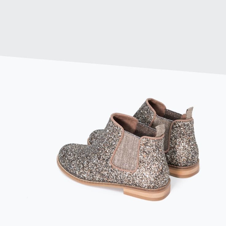 GLITTER ANKLE BOOTS-Shoes-Girl | 4-14 years-KIDS | ZARA United States
