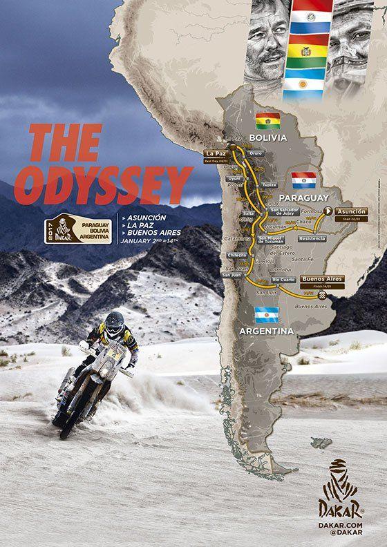 #LesRutilantes #Dakar2017. Parcours du rallye