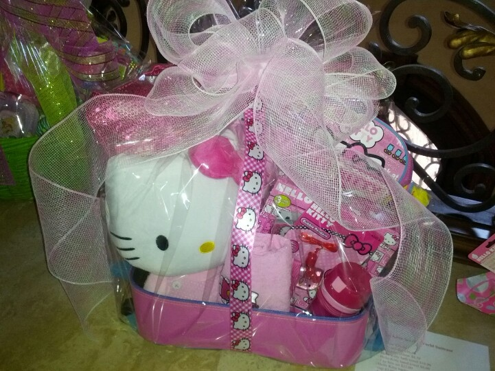 51 best easter basket inspiration images on pinterest easter here a suitcase was used to create a hello kitty themed basket negle Gallery