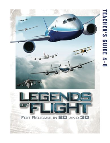 Here's a teacher's guide to accompany the IMAX movie LEGENDS OF FLIGHT that contains a number of hands on activities to help students understand the principles of flight.