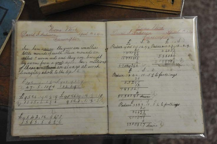 1900 Student's exercise book. Beautiful handwriting - a shame about the spelling of April...