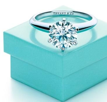 The Legendary Tiffany Engagement Ring. Simple but gorgeous! who doesn't love anything from a little blue box.