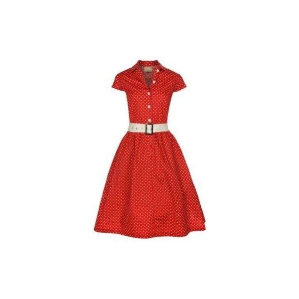 Red spotty tea dress