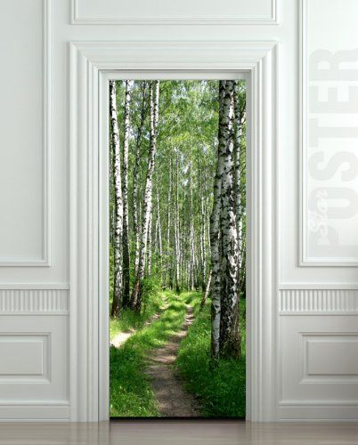"Wall Door STICKER birch, forest, road, way, passageway, , mural, decole, film 30x79"" (77x200 Cm) Pulaton,http://www.amazon.com/dp/B00C7B842G/ref=cm_sw_r_pi_dp_ehL7sb0EYW07WNEM"