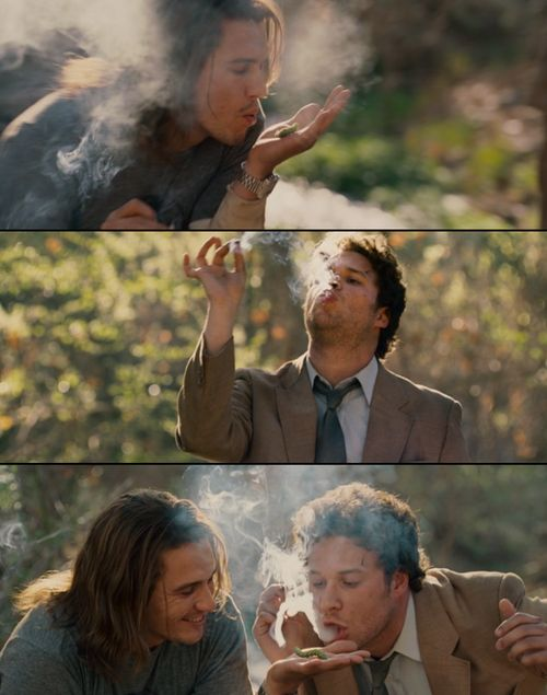 James Franco as Saul in pineapple express. And Seth rogen! (mantis from Kung Fu panda.)