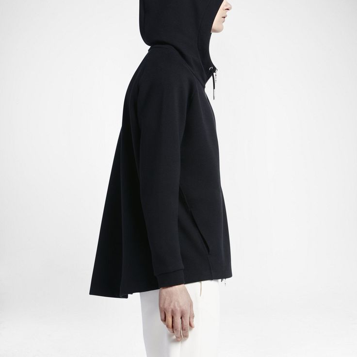 NWT NIKE LAB WOMEN'S TECH FLEECE ESSENTIALS HOODIE BLACK L SWEATSHIRT 824088 010 in Kleidung & Accessoires, Damenmode, Fitnessmode   eBay!