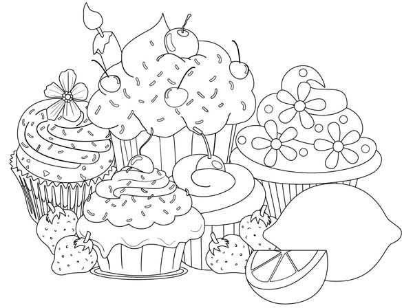 Printable Cupcake Coloring Pages Cupcake Coloring Pages Free