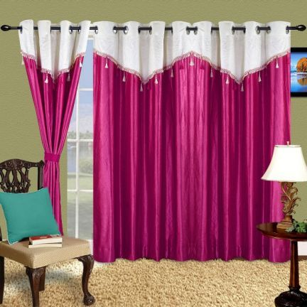 Cortina Purple Eyelet Curtain - Add a splash of colour to your home decor with this purple coloured curtain. Made of polyester, this curtain will retain its quality for years to come. The bright colour adds a lot of class to this curtain.Note: Please note that the product is being sold as a single/1 piece only. The image shown is for representational purpose only.