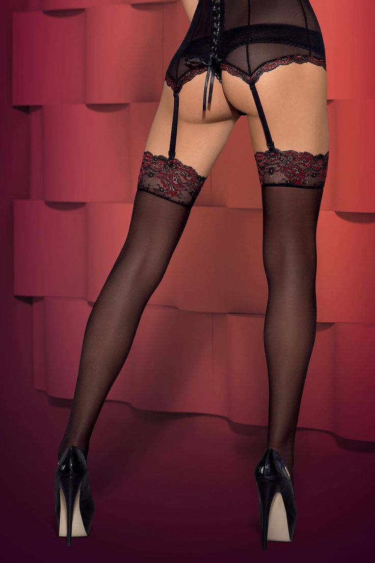 Extremely feminine stockings Musca with delicate lace. Do you want to find out? #lingerie #obsessivelingerie #sexy #obsessive || obsessive.com