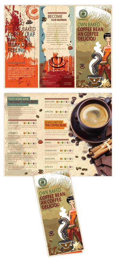 21 best Brochure images on Pinterest Templates, Cats and Childhood - coffee shop brochure template
