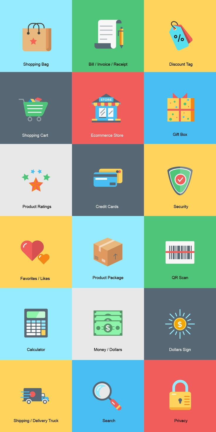 ⬇ Free download: Ecommerce Icons