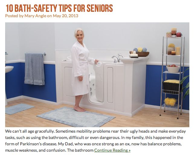From The Blog 10 Bath Safety Tips For Seniors