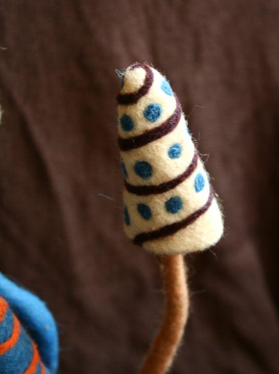 Trippy felted magic mushroom lampshade by Trippyhandmades on Etsy