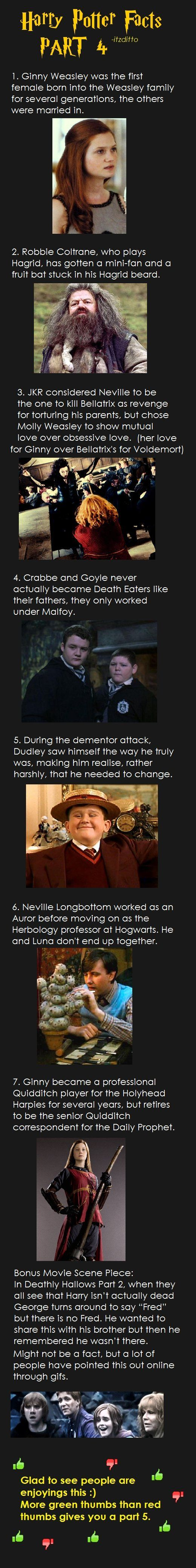 Harry Potter Facts Part 4 some interesting points, i would love at some point to verify!! But love the idea!