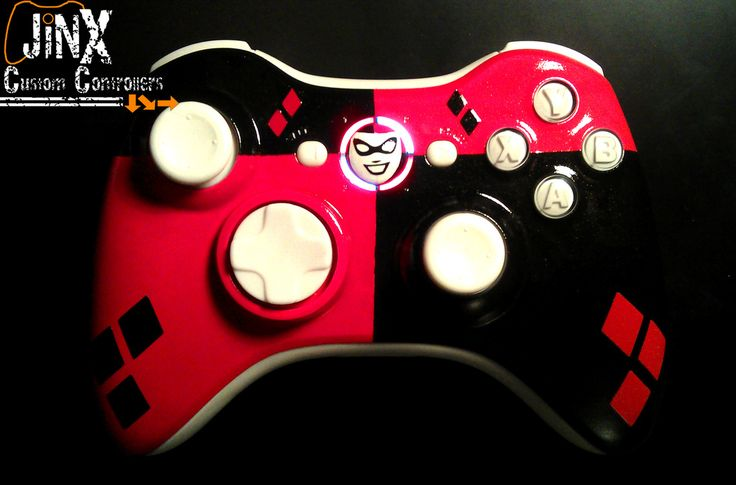 Jinx Harley quinn inspired xbox 360 controller